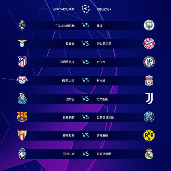 2020-2021歐冠賽程16強賽程表_歐冠賽程16強賽程表時間|比分介紹