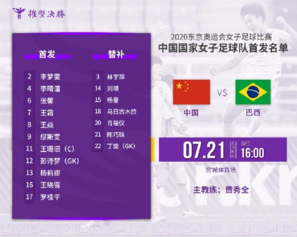 奧運中國女足首戰名單_中國女足奧運名單公布一覽